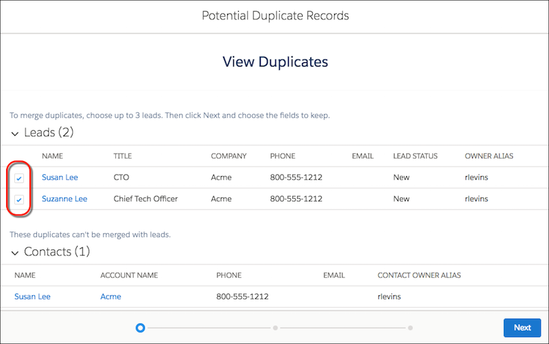 Salesforce Duplicate Management