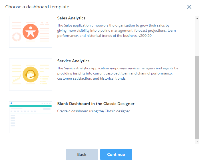 Create The Dashboard In Classic Designer - Customer dashboard template