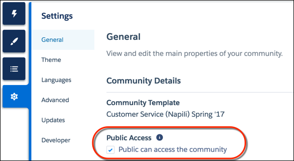 Control Public Access For Each Page In Your Community