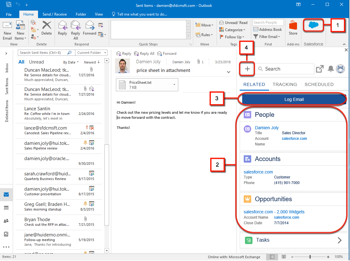 download salesforce for outlook