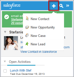 salesforce side panel not showing